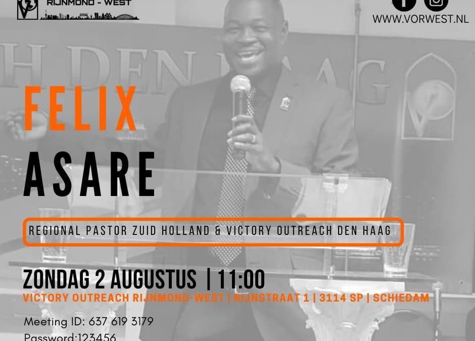 Felix Asare | Zondag 2 augustus