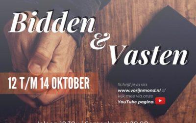 Bidden & vasten | 12 tm 14 oktober 2020