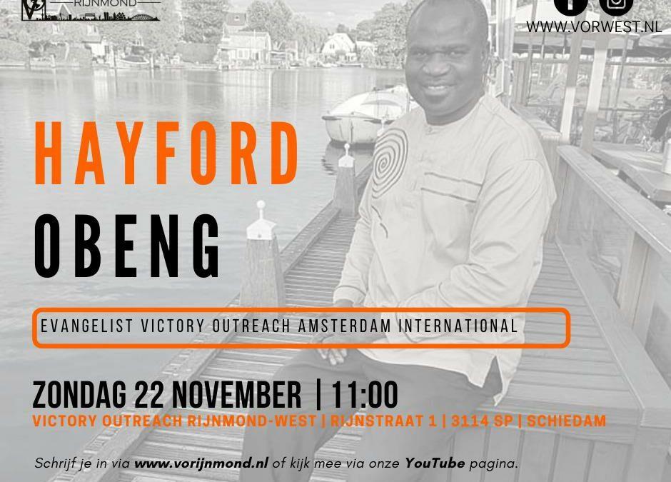 Hayford Obeng | Zondag 22 november | 11:00 uur